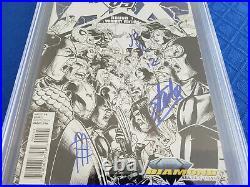 Avengers vs. X-Men #1 CGC 9.8 Signed by STAN LEE, ROMITA JR, CHEUNG Variant