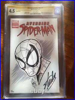 Avenging Spider-Man 1 CGC 4.5 Signed Front & Back Cover By Stan Lee Blank Var