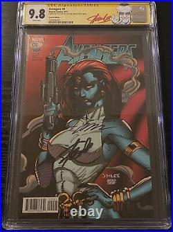 CGC 9.8 SS 2X Avengers #9 Signed Stan Lee Jim Lee MCU Trading Card Variant