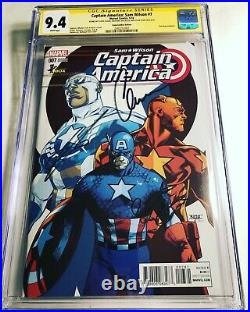 CGC SS 9.4 Captain America Sam Wilson #7 Variant signed by Evans Mackie & Stan