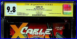 Cable #3 Jim Lee Variant CGC 9.8 signed by Jim Lee, Liefeld and STAN LEE