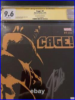 Cage! #1 CGC 9.6 SS Signed Stan Lee Quesada Variant Cover Luke Cage White Pages