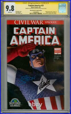 Captain America 25 Ww Variant Cgc 9.8 Signature Series Signed Stan Lee Joe Simon
