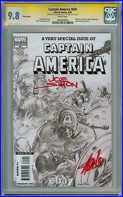 Captain America #601 Variant Cgc 9.8 Signature Series Signed Stan Lee Joe Simon