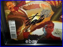 Captain America Sam Wilson #7 CGC 9.8 Variant Punching Hitler Signed STAN LEE