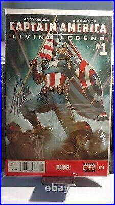 Captain America living legend #1 Variant 2x signed Stan Lee Adi Granov lee withcoa
