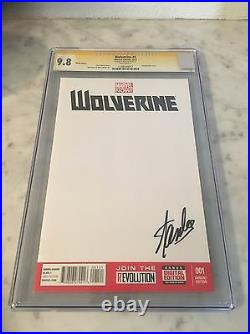 Cgc 9.8/9.6 SS Stan Lee Signed Blank Variant X-men #1 wolverine #1 Iron man #1