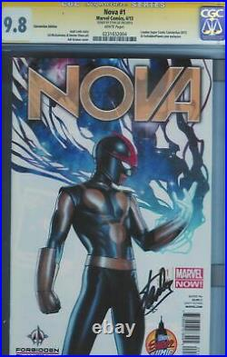 Cgc Ss 9.8 Nova #1 2013 Signed By Stan Lee London Super Comic Con Variant Cover