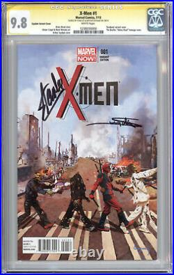 Cgc Ss 9.8 X-men #1 Suydam Abbey Road Var- Signed By Stan Lee/arthur Suydam