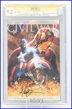 Civil War #1 Variant CGC 9.2 SS STAN LEE Michael Turner Signed Avengers