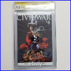 Civil War #4 Variant CGC SS 9.8 Signed by Michael Turner Stan Lee McNiven & more
