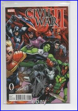 Civil War II #0 Signed by Stan Lee Collectibles Ramos Variant Marvel Comic