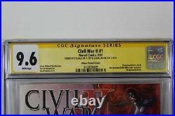 Civil War II #1 Variant CGC 9.6 SS Signature Series Signed Stan Lee Neal Adams