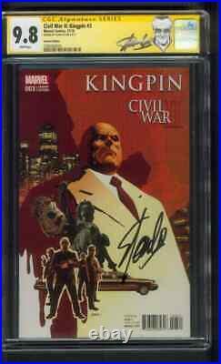 Civil War II Kingpin 3 CGC 9.8 SS Stan Lee Sign label Daredevil Variant 1 Show