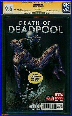 DEADPOOL #45 (Moore Variant) CGC SS 9.6 NM+ Signed by Stan Lee