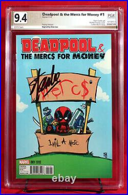 DEADPOOL & Mercs for Money #1 PGX 9.4 NM Young Variant Signed By STAN LEE +CGC