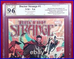 DOCTOR STRANGE #1 (Marvel) PGX 9.6 NM+ Rebelka Variant signed STAN LEE! +CGC