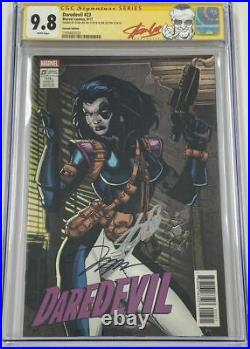 Daredevil #23 Domino Trading Card Variant Signed Stan Lee & Jim Lee CGC 9.8 SS