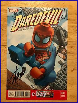 Daredevil 31 Amazing Spiderman Lego Variant Signed Stan Lee