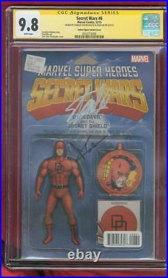 Daredevil 6 CGC 2XSS 9.8 Stan Lee Cox Sign Secret Wars 15 Variant Spidey 3 Movie