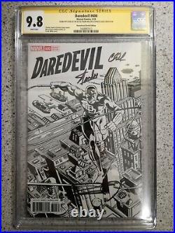 Daredevil #600 11000 Remastered Sketch Variant Cgc Ss 9.8 Sign Stan Lee Miller