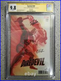Daredevil #600 150 Alex Ross Variant Cgc Ss 9.8 Signed Stan Lee & Charles Soule