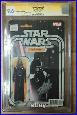 Darth Vader #1 J T Christopher Action Figure Variant CGC SS 9.6 Signed Stan Lee