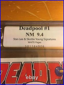 Deadpool 1 Scottie Young Baby Variant Signed by Stan Lee & Skottie Young PGX 9.4