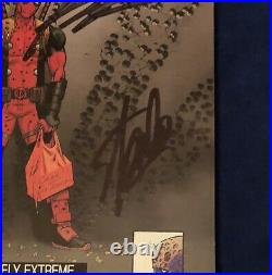 Deadpool #2 Hip Hop 1100 Variant Signed by Stan Lee with COA & Rob Liefeld HOT