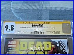 Deadpool 34 3D Variant Cover Signed by Stan Lee & Scott Koblish CGC 9.8