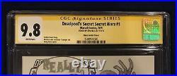 Deadpools Secret Secret Wars 1 Sketch Variant CGC 9.8 Signed-Stan Lee on 11/4/18