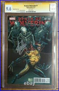 Death of Wolverine #1 1100 Joe Quesada Variant CGC SS 9.6 Signed Stan Lee