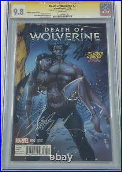 Death of Wolverine #2 Midtown Variant Signed by Stan Lee & Campbell CGC 9.8 SS