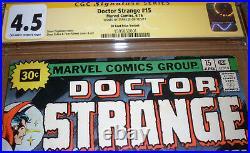 Doctor Strange #15 Price Variant CGC SS SIGNED Stan Lee Marvel 1976 30 Cent Dr