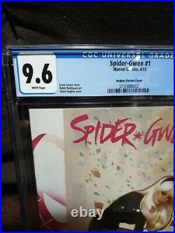 Edge Of Spider-Verse #2 Signed Stan Lee CGC SS 9.6 Spider-Gwen 1 Hughes Variant