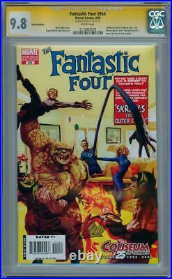 Fantastic Four #554 Skrulls Variant Cgc 9.8 Signature Series Signed Stan Lee #2