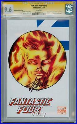 Fantastic Four #572 Variant Cgc 9.6 Signature Series Signed Stan Lee Marvel