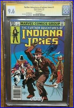 Further Adventures Indiana Jones #1 Signed Stan Lee Newsstand Variant CGC 9.6
