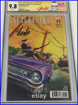 Generations #1 125 Variant Hawkeye & Kate Bishop Signed by Stan Lee CGC 9.8 SS