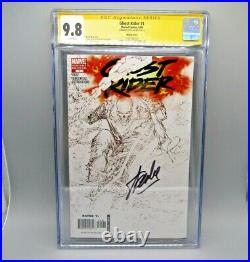 Ghost Rider #1 CGC 9.8 SS Sketch Variant Signed by Stan Lee, 1/29/2012, New Case