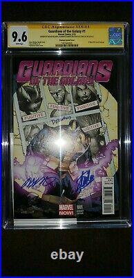 Guardians of the Galaxy 1 CGC 9.6 Delgado, Ramos, Stan Lee Sign Phantom Variant