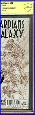 Guardians of the Galaxy #18 CBCS 9.8 Signed STAN LEE Ross Sketch Variant Not CGC