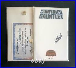 INFINITY GAUNTLET #1 BLANK SIGNED STAN LEE WithCOA VARIANT SKETCH WAR AVENGERS