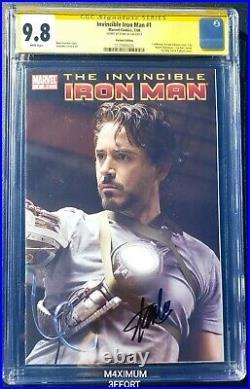 Invincible Iron Man #1(Robert Downey Jr) Variant Edition (signed Stan Lee) RARE