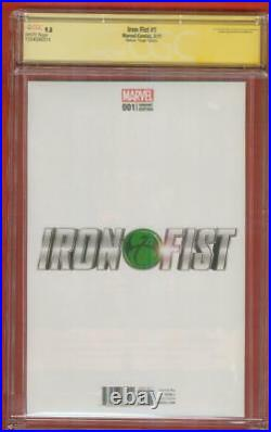 Iron Fist 1 CGC SS 9.8 Stan Lee Sign McKone Virgin Variant Defenders TV Key