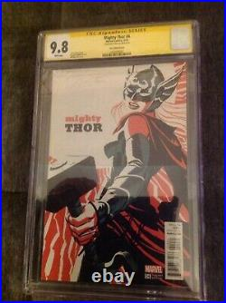 MIGHTY THOR #4 CGC 9.8 Signed Stan Lee Jane Foster M. CHO VARIANT COVER Marvel