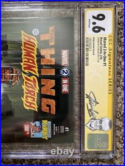 Marvel 2-in-one #1 Cgc Ss 9.6 Jack Kirby Variant Signed By Stan Lee
