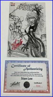 Marvel Amazing Spider-man #15 B&W Turner Sketch Variant Signed by Stan Lee withCOA
