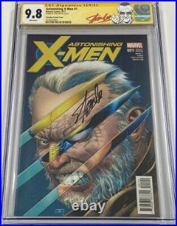 Marvel Astonishing X-men #1 Signed Stan Lee CGC 9.8 SS 150 RI Wolverine Variant