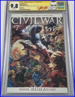Marvel Civil War #7 Variant Signed Stan Lee & Michael Turner CGC 9.8 SS Avengers
